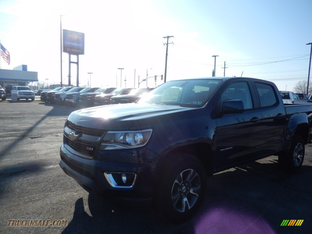 2020 Colorado Z71 Crew Cab 4x4 - Pacific Blue Metallic / Jet Black photo #1