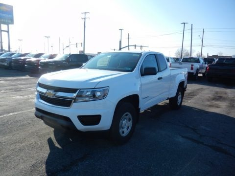 Summit White 2020 Chevrolet Colorado WT Extended Cab 4x4