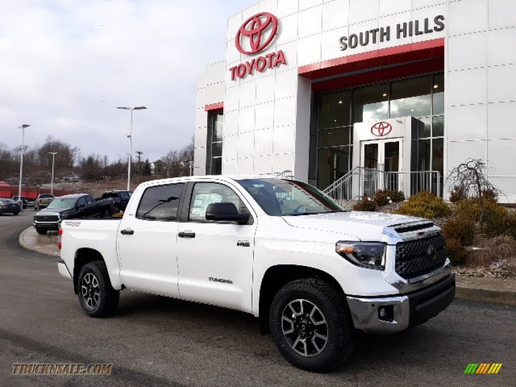 2020 Tundra TRD Off Road CrewMax 4x4 - Super White / Graphite photo #1