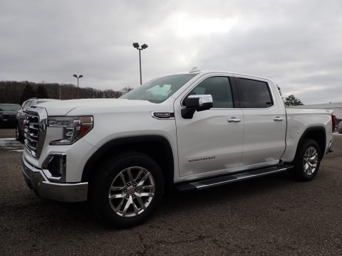 White Frost Tricoat 2020 GMC Sierra 1500 SLT Crew Cab 4WD