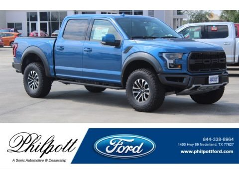 Performance Blue 2019 Ford F150 SVT Raptor SuperCrew 4x4