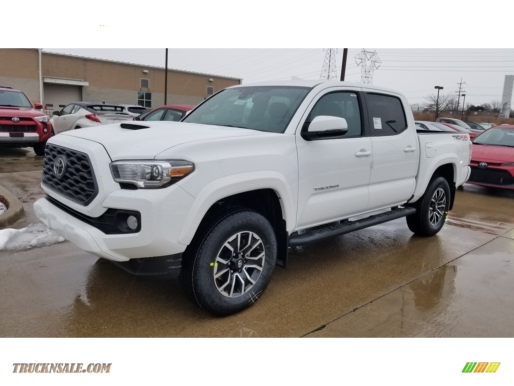 Super White / TRD Cement/Black Toyota Tacoma TRD Sport Double Cab 4x4