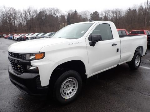 Summit White 2020 Chevrolet Silverado 1500 WT Regular Cab 4x4