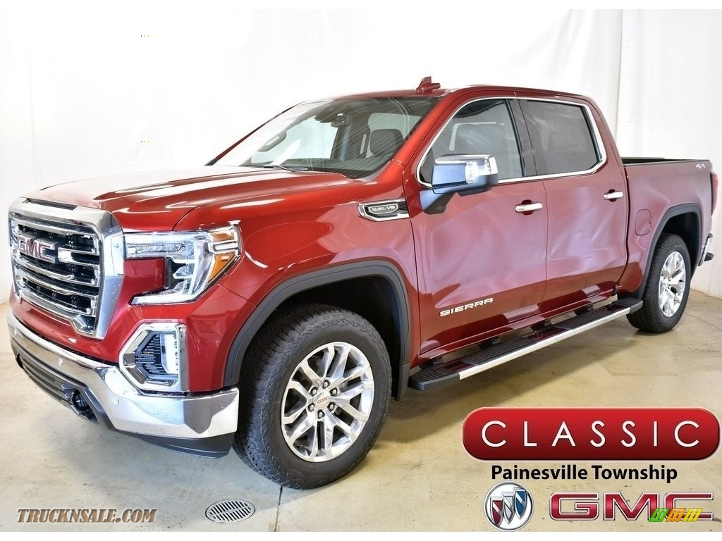 2020 Sierra 1500 SLT Crew Cab 4WD - Red Quartz Tintcoat / Jet Black photo #1