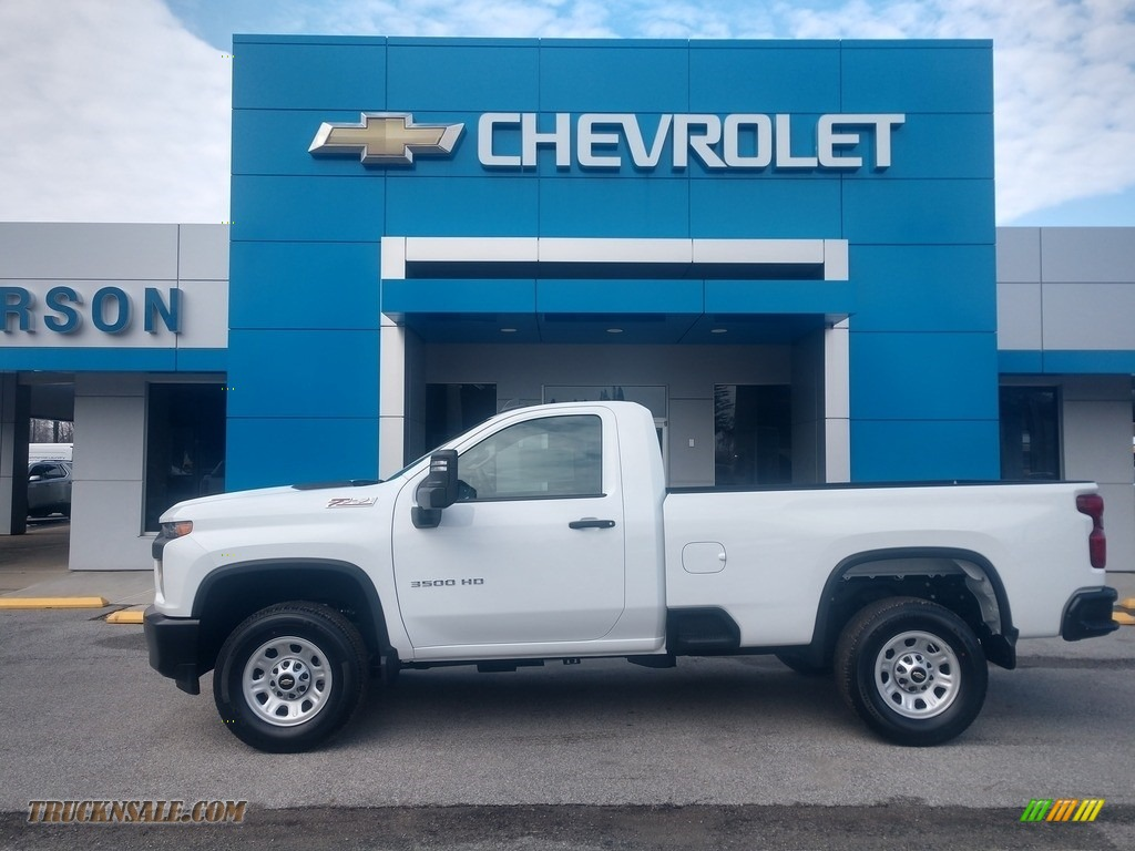 Summit White / Jet Black Chevrolet Silverado 3500HD Work Truck Crew Cab 4x4