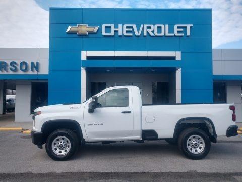 Summit White 2020 Chevrolet Silverado 3500HD Work Truck Crew Cab 4x4