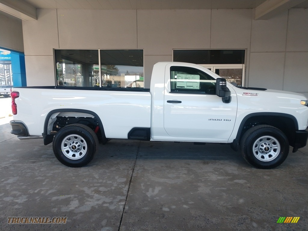 2020 Silverado 3500HD Work Truck Crew Cab 4x4 - Summit White / Jet Black photo #3