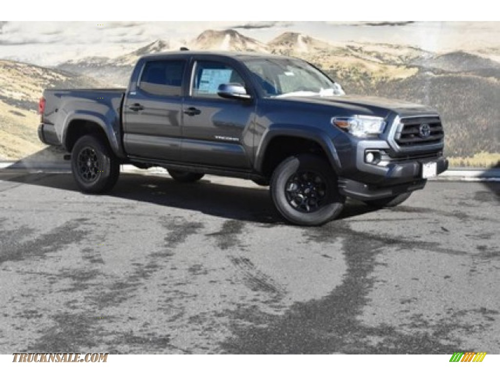 Magnetic Gray Metallic / Cement Toyota Tacoma SR5 Double Cab 4x4