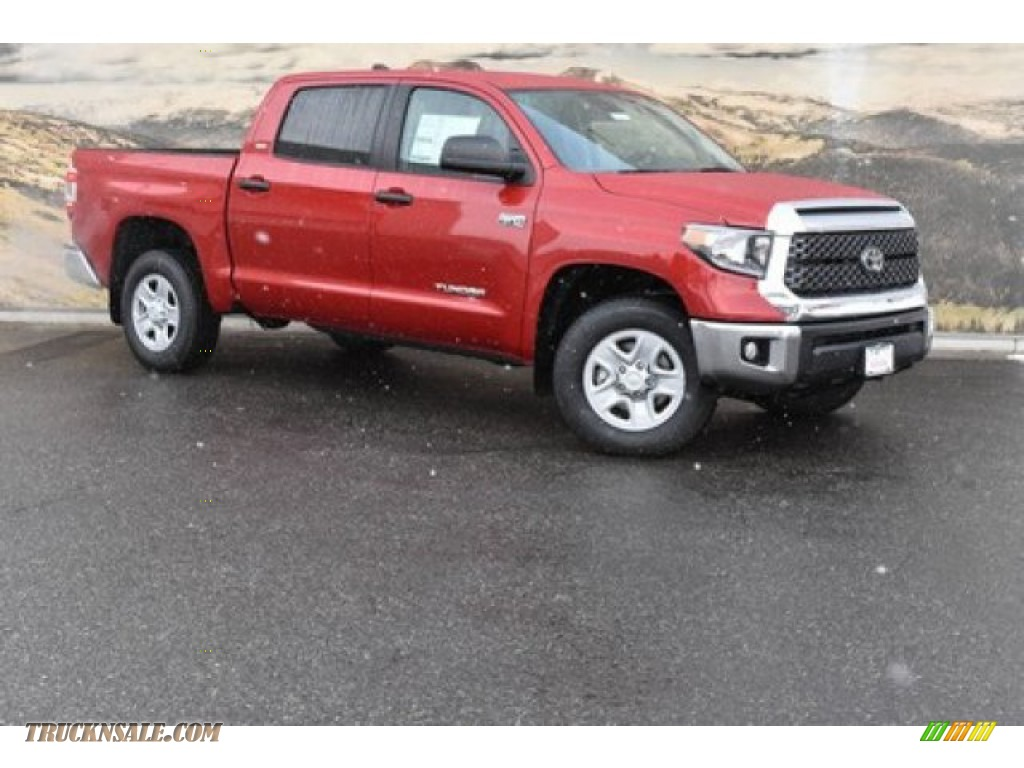 Barcelona Red Metallic / Graphite Toyota Tundra SR5 CrewMax 4x4