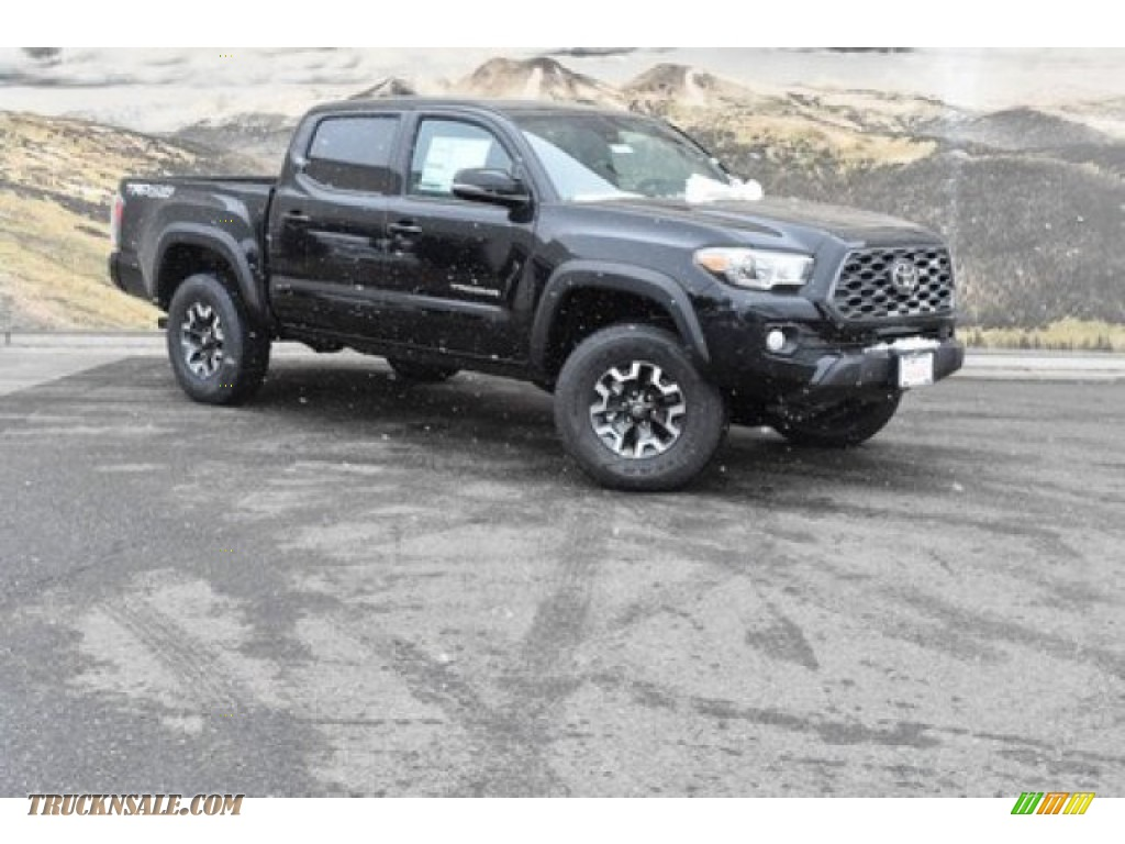 2020 Tacoma TRD Off Road Double Cab 4x4 - Midnight Black Metallic / Cement photo #1