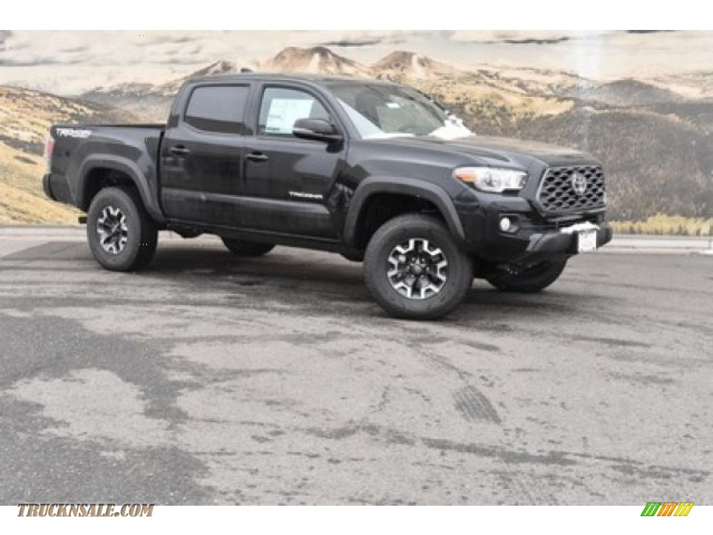 2020 Tacoma TRD Off Road Double Cab 4x4 - Midnight Black Metallic / Black photo #1