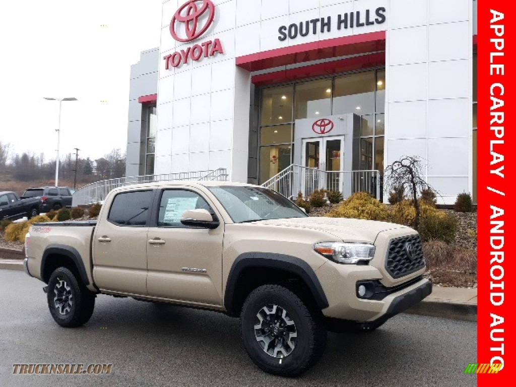 2020 Tacoma TRD Off Road Double Cab 4x4 - Quicksand / TRD Cement/Black photo #1