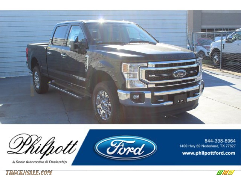 2020 F250 Super Duty Lariat Crew Cab 4x4 - Agate Black / Black photo #1