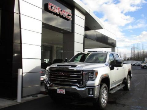 Quicksilver Metallic 2020 GMC Sierra 2500HD SLT Crew Cab 4WD