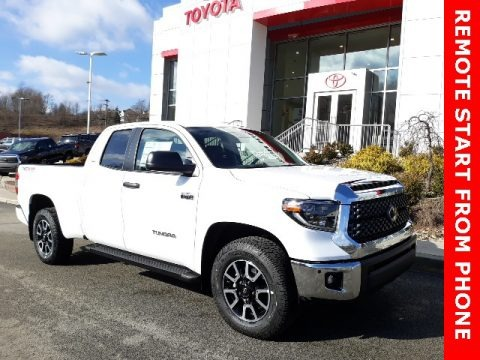 Super White 2020 Toyota Tundra TRD Off Road Double Cab 4x4