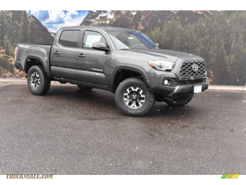 2020 Tacoma TRD Off Road Double Cab 4x4 - Magnetic Gray Metallic / TRD Cement/Black photo #1