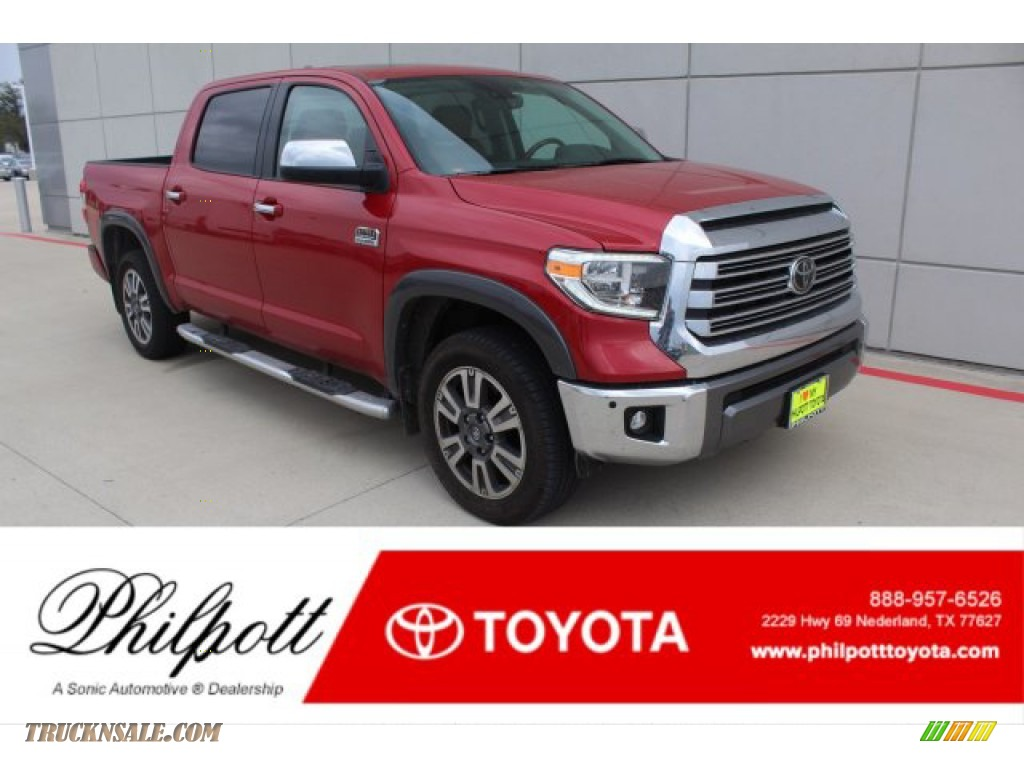 2020 Tundra 1794 Edition CrewMax 4x4 - Barcelona Red Metallic / 1794 Edition Brown/Black photo #1