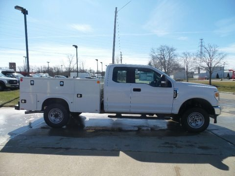 Oxford White 2020 Ford F350 Super Duty XL Regular Cab 4x4 Chassis Utility Truck