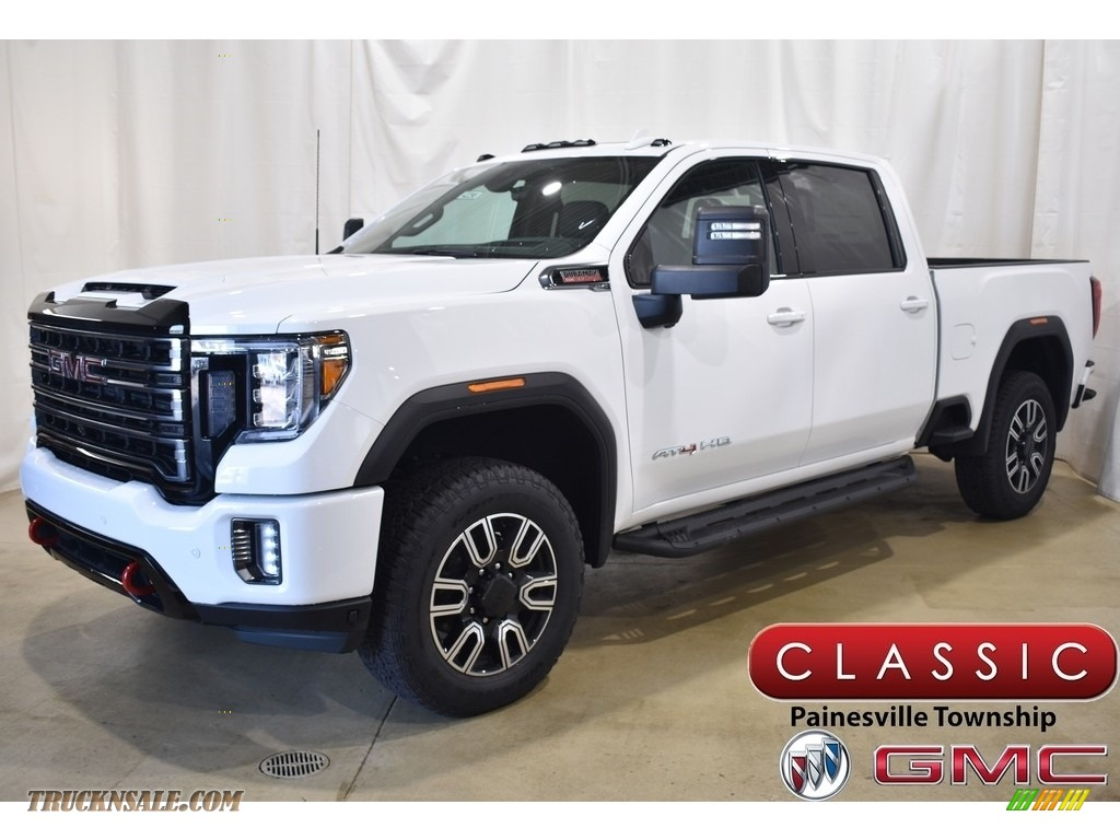 2020 Sierra 2500HD AT4 Crew Cab 4WD - Summit White / Jet Black photo #1