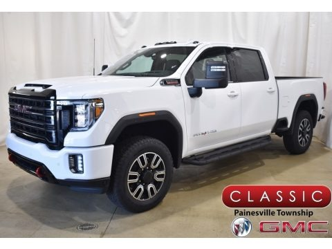 Summit White 2020 GMC Sierra 2500HD AT4 Crew Cab 4WD