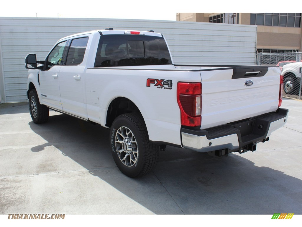 2020 F250 Super Duty Lariat Crew Cab 4x4 - Oxford White / Black photo #6