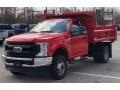 Ford F350 Super Duty XL Regular Cab 4x4 Chassis Dump Truck Race Red photo #4