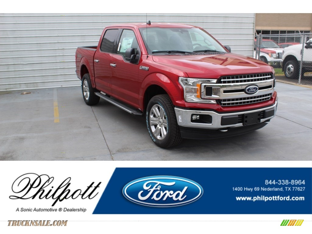 Rapid Red / Medium Earth Gray Ford F150 XLT SuperCrew 4x4