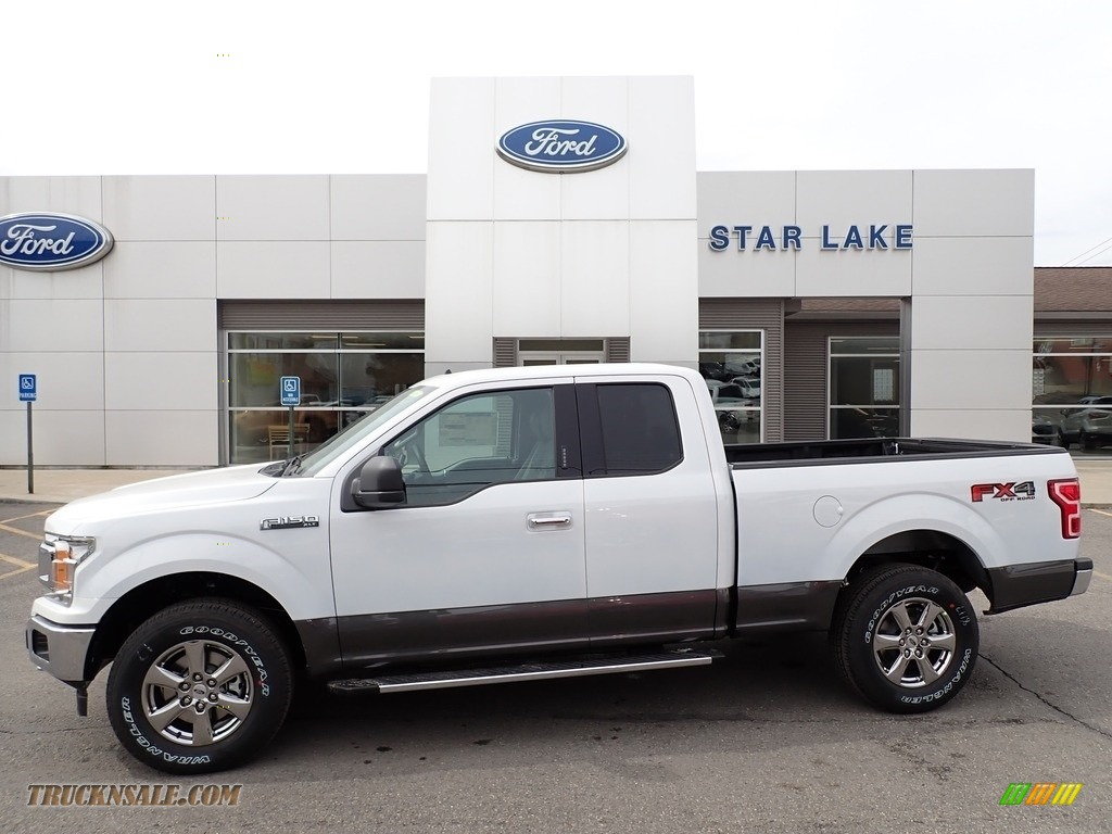 2020 F150 XLT SuperCab 4x4 - Oxford White / Medium Earth Gray photo #1
