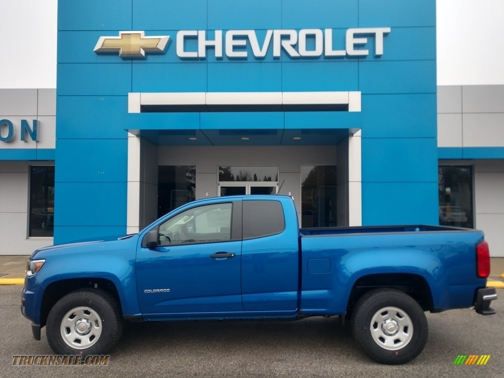 2020 Colorado WT Extended Cab - Kinetic Blue Metallic / Ash Gray/Jet Black photo #1