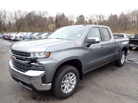 Satin Steel Metallic 2020 Chevrolet Silverado 1500 LT Z71 Double Cab 4x4