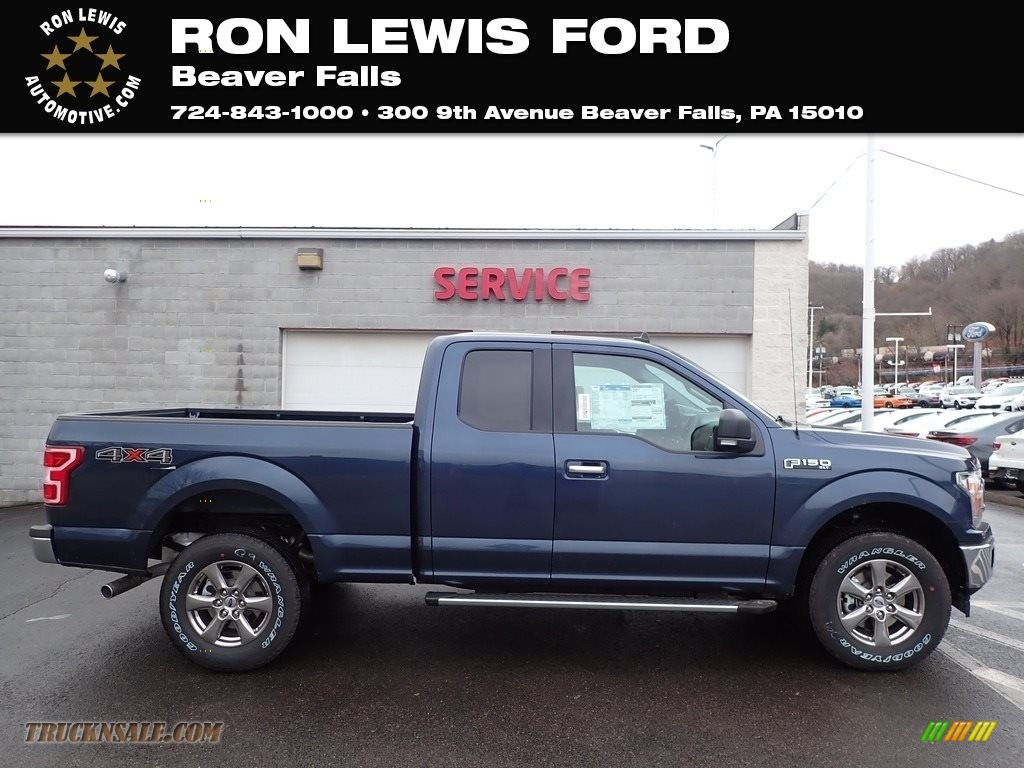 Blue Jeans / Medium Earth Gray Ford F150 XLT SuperCab 4x4