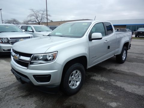 Silver Ice Metallic 2020 Chevrolet Colorado WT Extended Cab 4x4