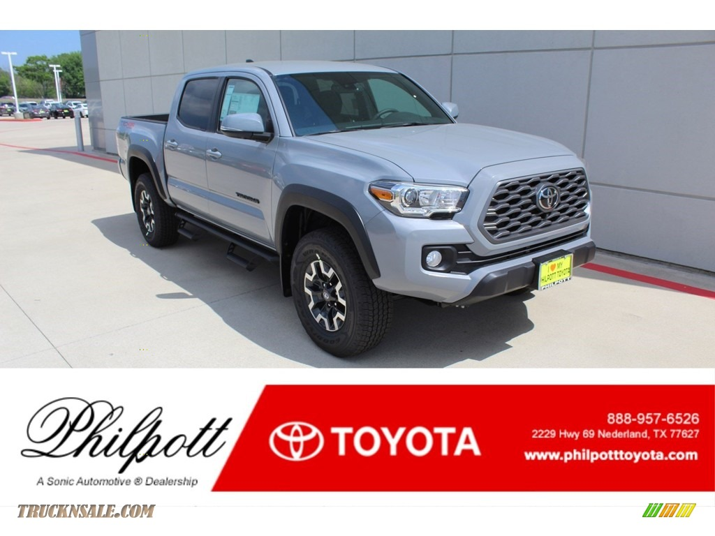 2020 Tacoma TRD Off Road Double Cab 4x4 - Cement / TRD Cement/Black photo #1