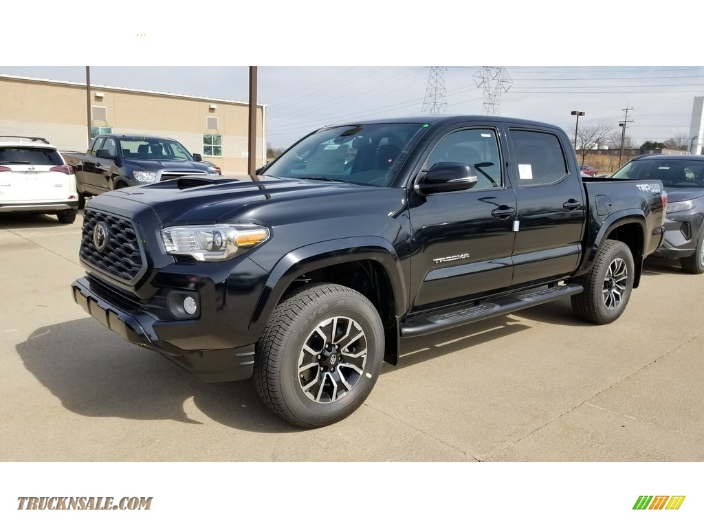 2020 Tacoma TRD Sport Double Cab 4x4 - Midnight Black Metallic / TRD Cement/Black photo #1