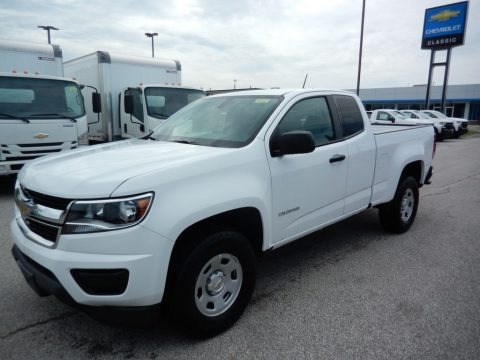 Summit White 2020 Chevrolet Colorado WT Extended Cab