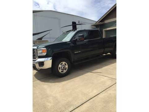 Emerald Green Metallic 2015 GMC Sierra 2500HD SLE Crew Cab 4x4