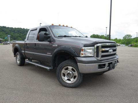 Dark Stone Metallic 2005 Ford F250 Super Duty XLT Crew Cab 4x4