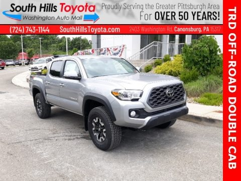 Silver Sky Metallic 2020 Toyota Tacoma TRD Off Road Double Cab 4x4