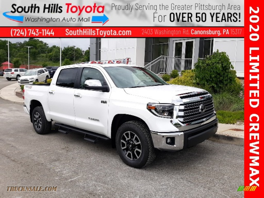 2020 Tundra Limited CrewMax 4x4 - Super White / Graphite photo #1