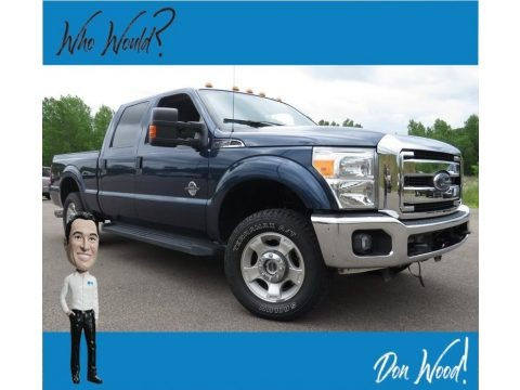 Blue Jeans Metallic 2016 Ford F250 Super Duty XLT Crew Cab 4x4