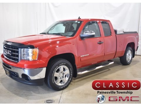 Fire Red 2012 GMC Sierra 1500 SLE Extended Cab 4x4