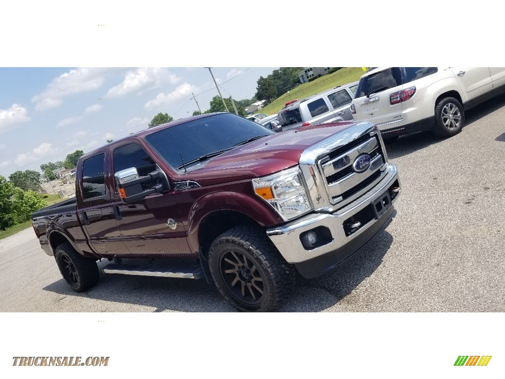 2012 F250 Super Duty XLT Crew Cab 4x4 - Golden Bronze Metallic / Adobe photo #1