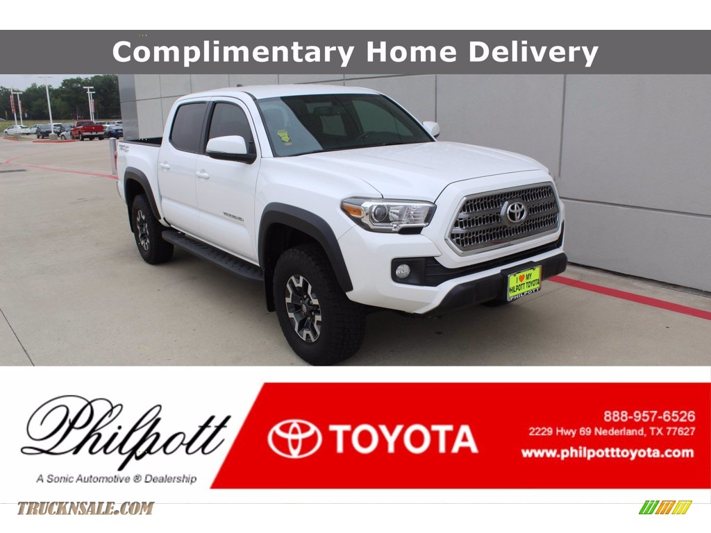Super White / TRD Graphite Toyota Tacoma TRD Off Road Double Cab 4x4