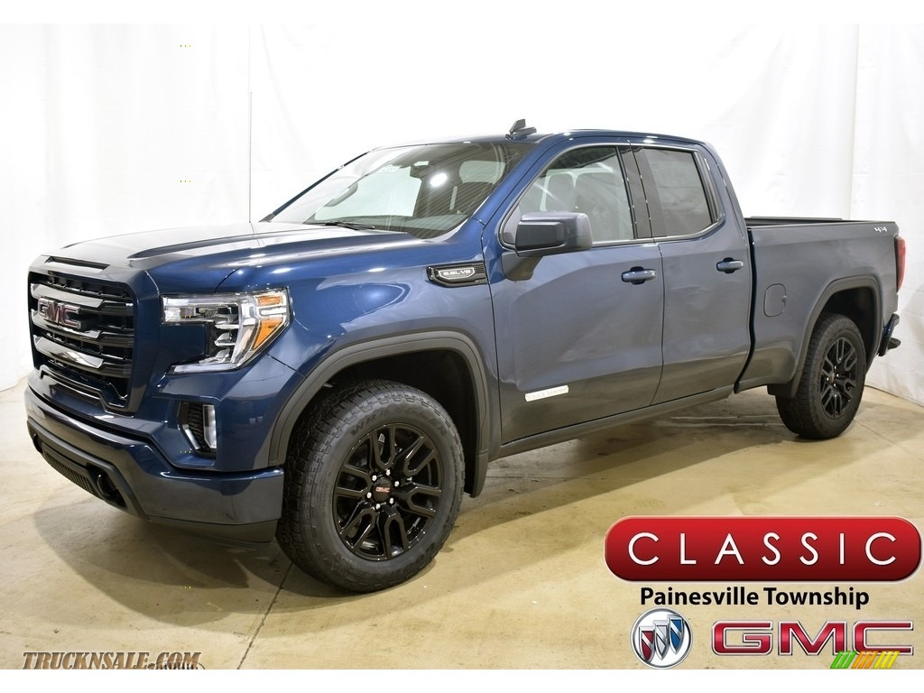 2020 Sierra 1500 Elevation Double Cab 4WD - Pacific Blue Metallic / Jet Black photo #1