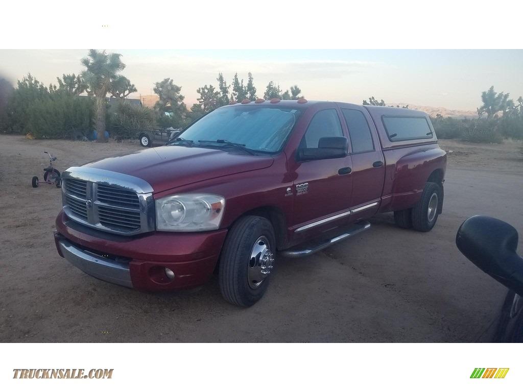 2007 Ram 3500 Laramie Quad Cab Dually - Flame Red / Medium Slate Gray photo #1