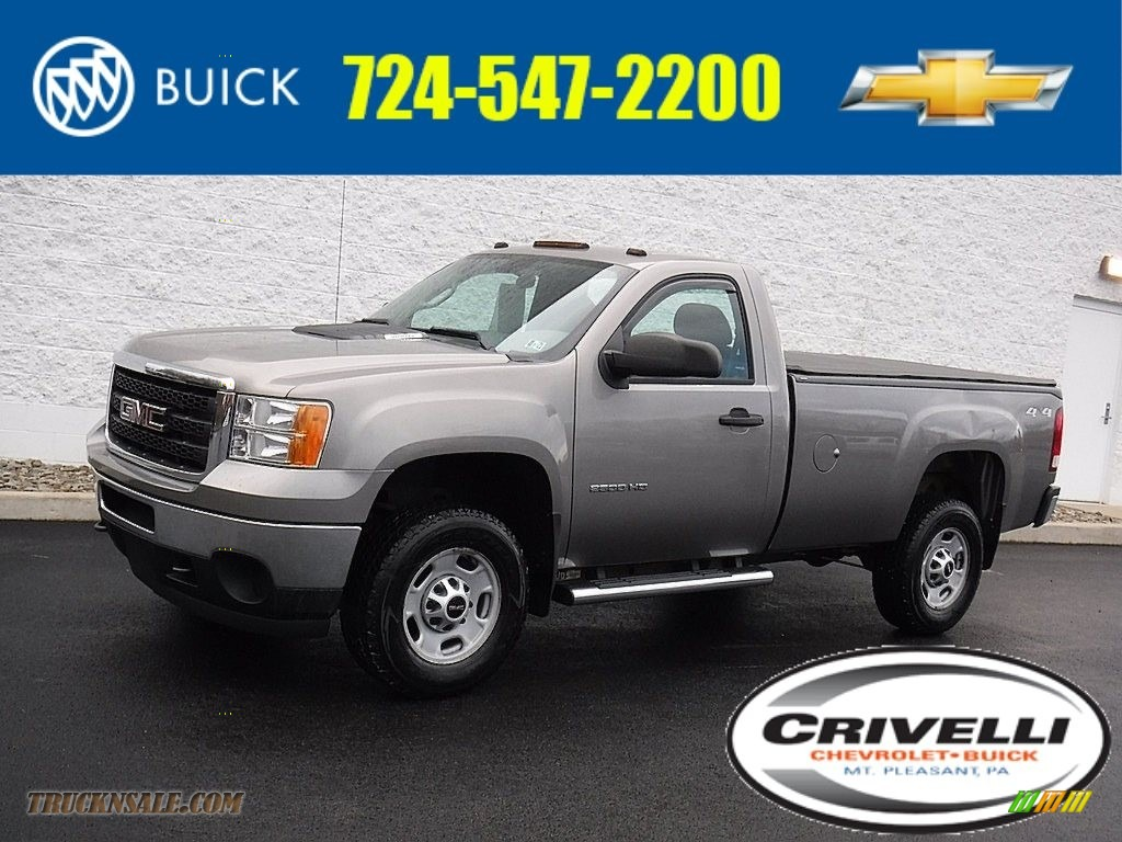 2014 Sierra 2500HD Regular Cab 4x4 - Steel Gray Metallic / Dark Titanium photo #1