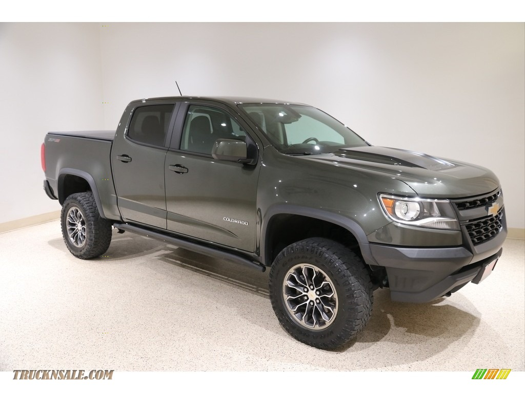 Deepwood Green Metallic / Jet Black Chevrolet Colorado ZR2 Crew Cab 4x4