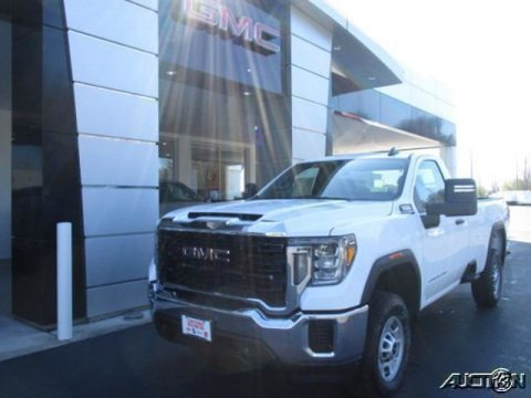 Summit White 2020 GMC Sierra 2500HD Regular Cab 4x4