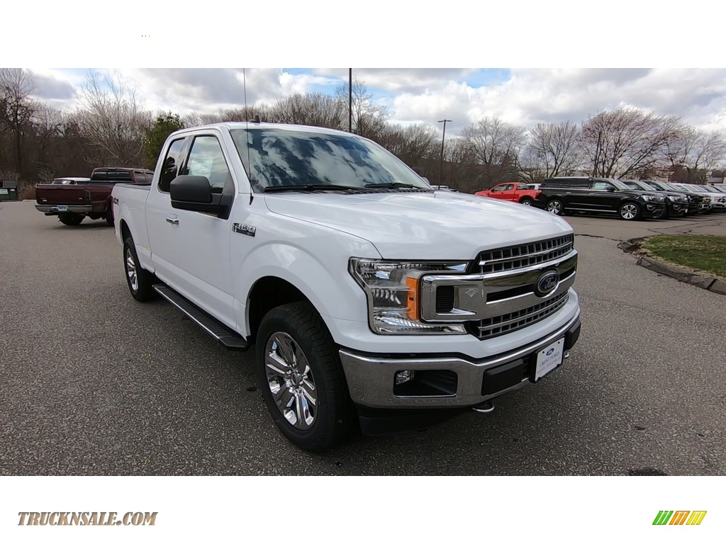 Oxford White / Medium Earth Gray Ford F150 XLT SuperCab 4x4