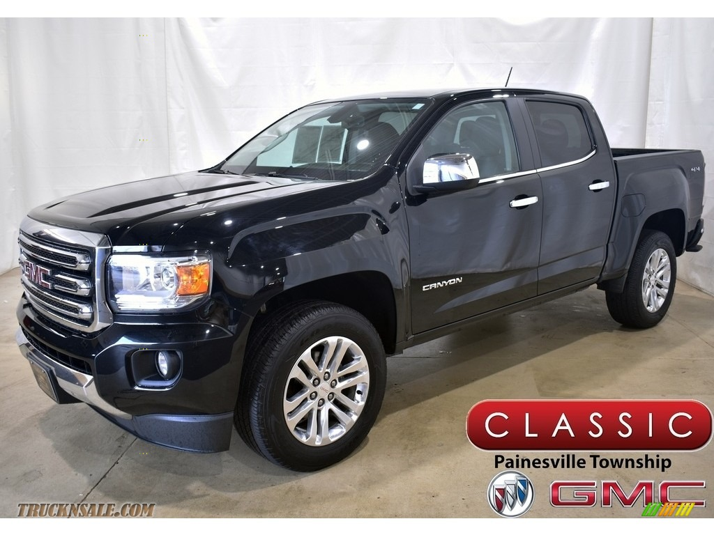 2017 Canyon SLT Crew Cab 4x4 - Onyx Black / Jet Black photo #1